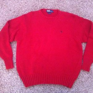 Ralph Lauren Polo Red Crew Cotton Sweater Sz XL